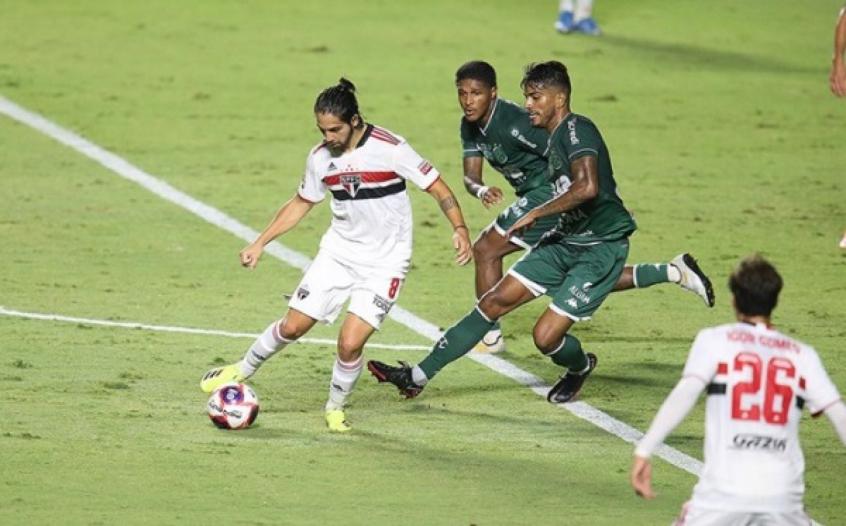 Crédito: Benítez teve boa atuação contra o Guarani (Paulo Pinto/São PauloFc.net