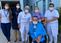 Silvano Ote Aguiar e sua mãe, Marly Ote, deixaram o hospital nesta quinta (15). Crédito: Divulgação/ Santa Casa de Cachoeiro