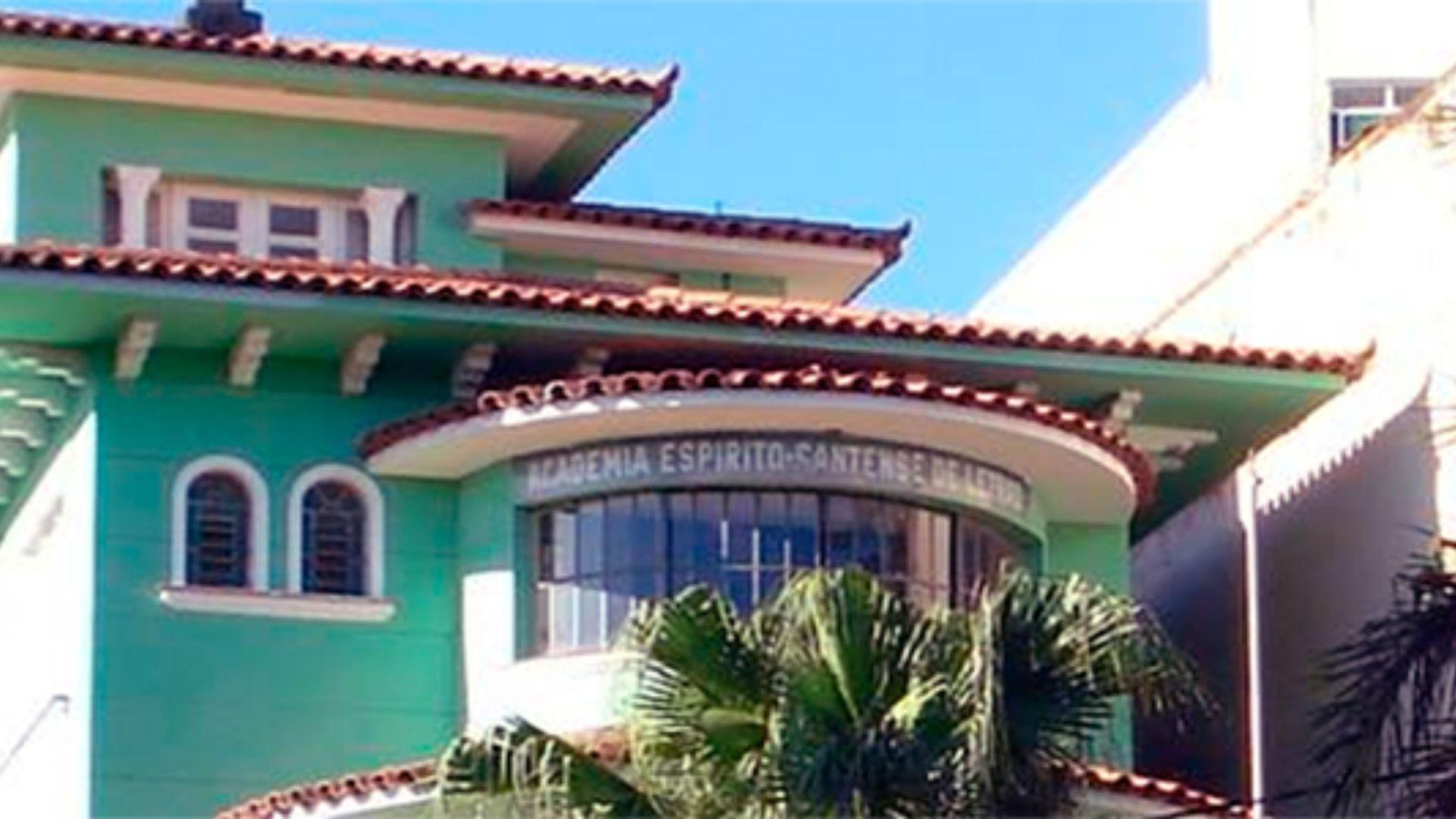 Sede da Academia Espírito-santense de Letras, no Centro de Vitória:a aquisição da sede definitiva ocorreu em 1975