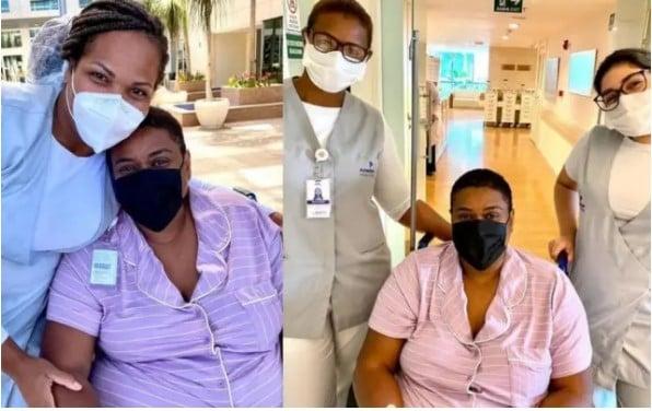 Cacau Protásio compartilhou fotos com a sua equipe médica em suas redes sociais