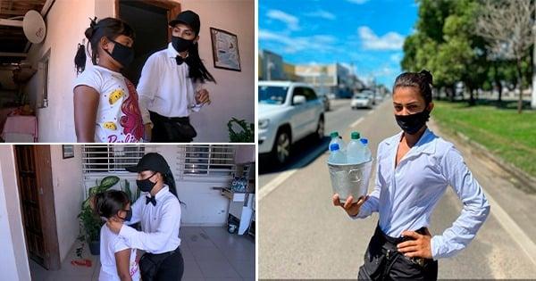 A história da mãe que vende água na BR 101 para criar a filha no ES