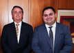 Presidente Jair Bolsonaro e o empresário capixaba Wellington Leite, da WK