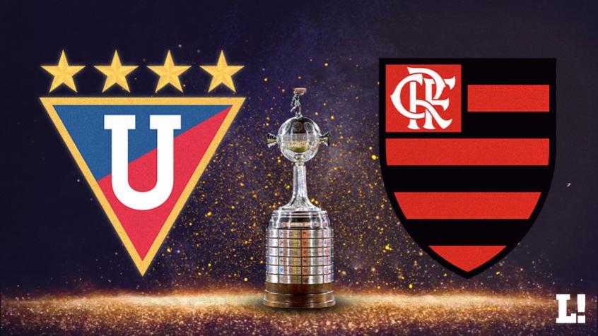 LDU e Flamengo se enfrentam nesta terça-feira (04). Crédito: Arte LANCE!