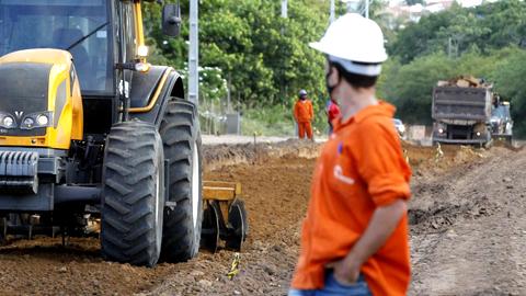 Execução de obras no Rio Grande do Norte, com recursos do Ministério do Desenvolvimento Regional