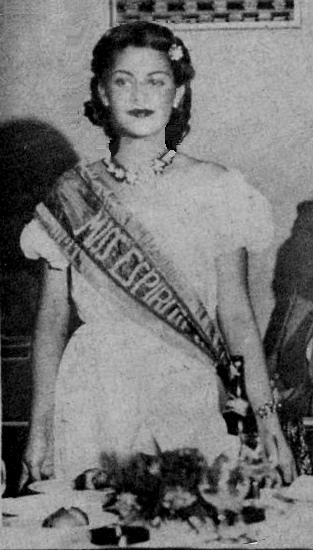 Maria Baptiste Fernandes, de Colatina, vencedora do Miss Espírito Santo 1949