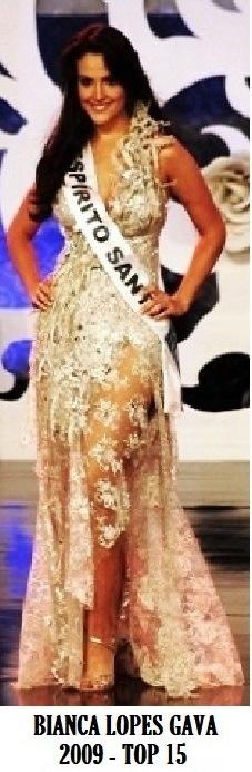 A Miss Espírito Santo 2009, Bianca Lopes Gava, top 15 no Miss Brasil 2009