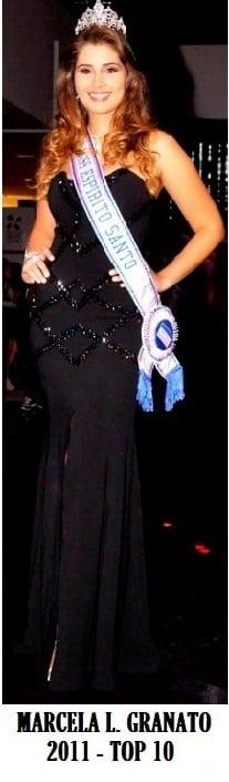 A Miss Espírito Santo 2011, Marcela Granato, top 10 no Miss Brasil 2011