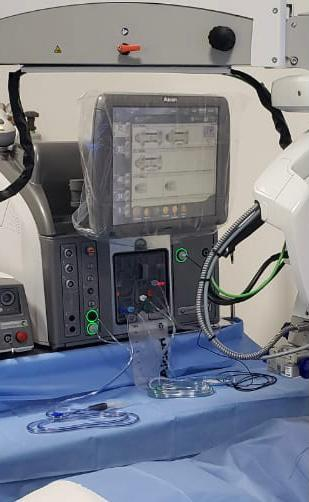 aparelho vitreófago para cirurgias de retina