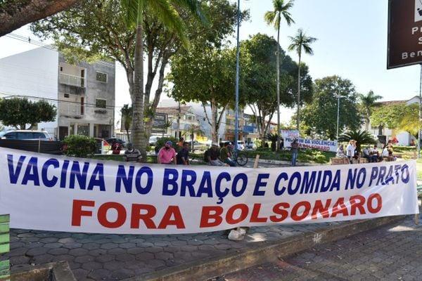 São Mateus tem protesto contra a visita de Jair Bolsonaro ao ES | A Gazeta
