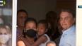 O Presidente Jair Bolsonaro participa de  entrega de casas no bairro Aroeira, em São Mateus