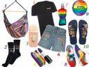 Vitrine de produtos para celebrar o mês LGBTQIA+