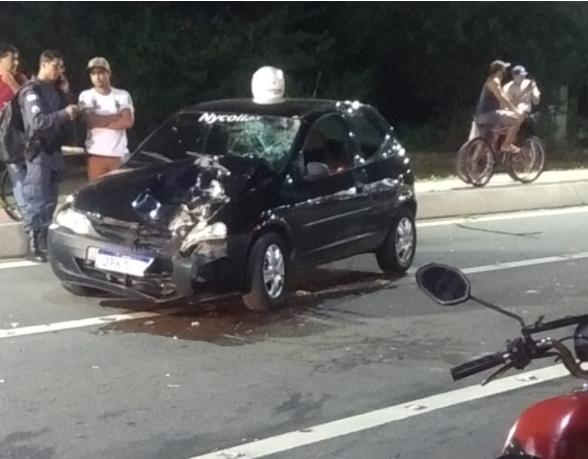 Motorista entrou na contramão no bairro Vila Nova de Colares e bateu de frente com motociclista, que morreu no local