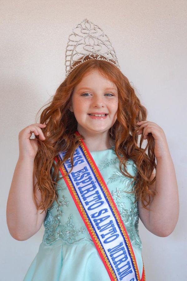 A Miss Espírito Santo Mirim 2021, Luiza Zimerman, de 9 anos