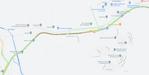 Mapa mostra congestionamento após acidente na Rodovia do Contorno, na Serra