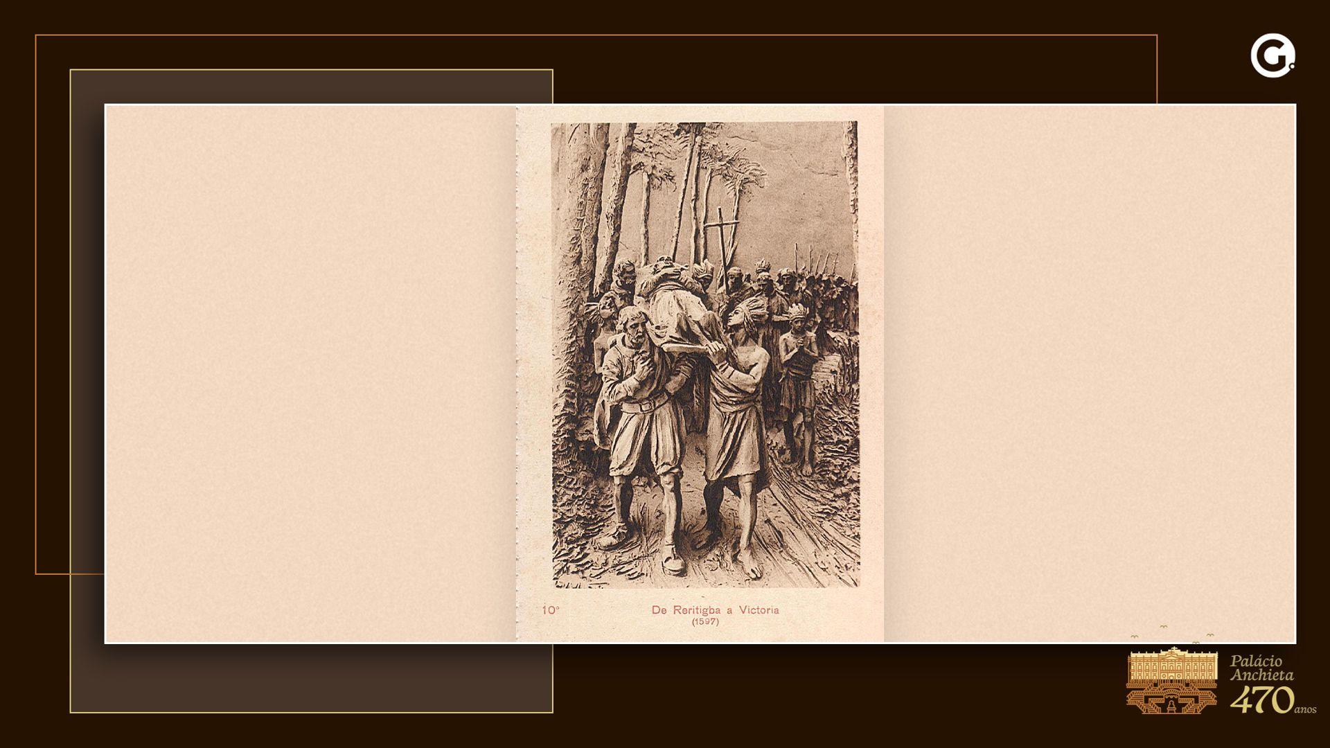 Corpo de Anchieta é levado pelos indígenas de Reritiba para Vitória