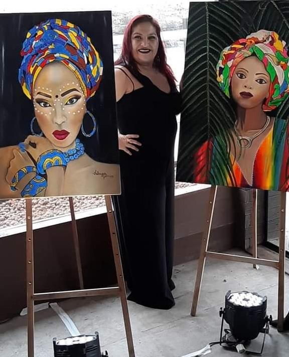 A pintora Fabrizia Gomes abre a exposição