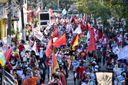 Protesto contra o presidente Jair Bolsonaro na Avenida Vitória, em Vitória