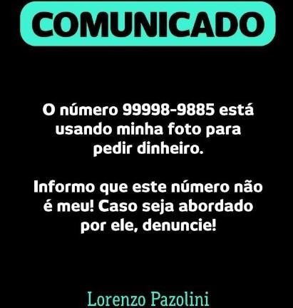 O alerta de Pazolini nas redes sociais contra o criminoso
