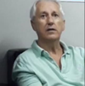 Marcos Venicio Moreira Andrade fala sobre assassinato de Gerson Camata à polícia, logo após ser preso. Crédito: Reprodução/Sesp