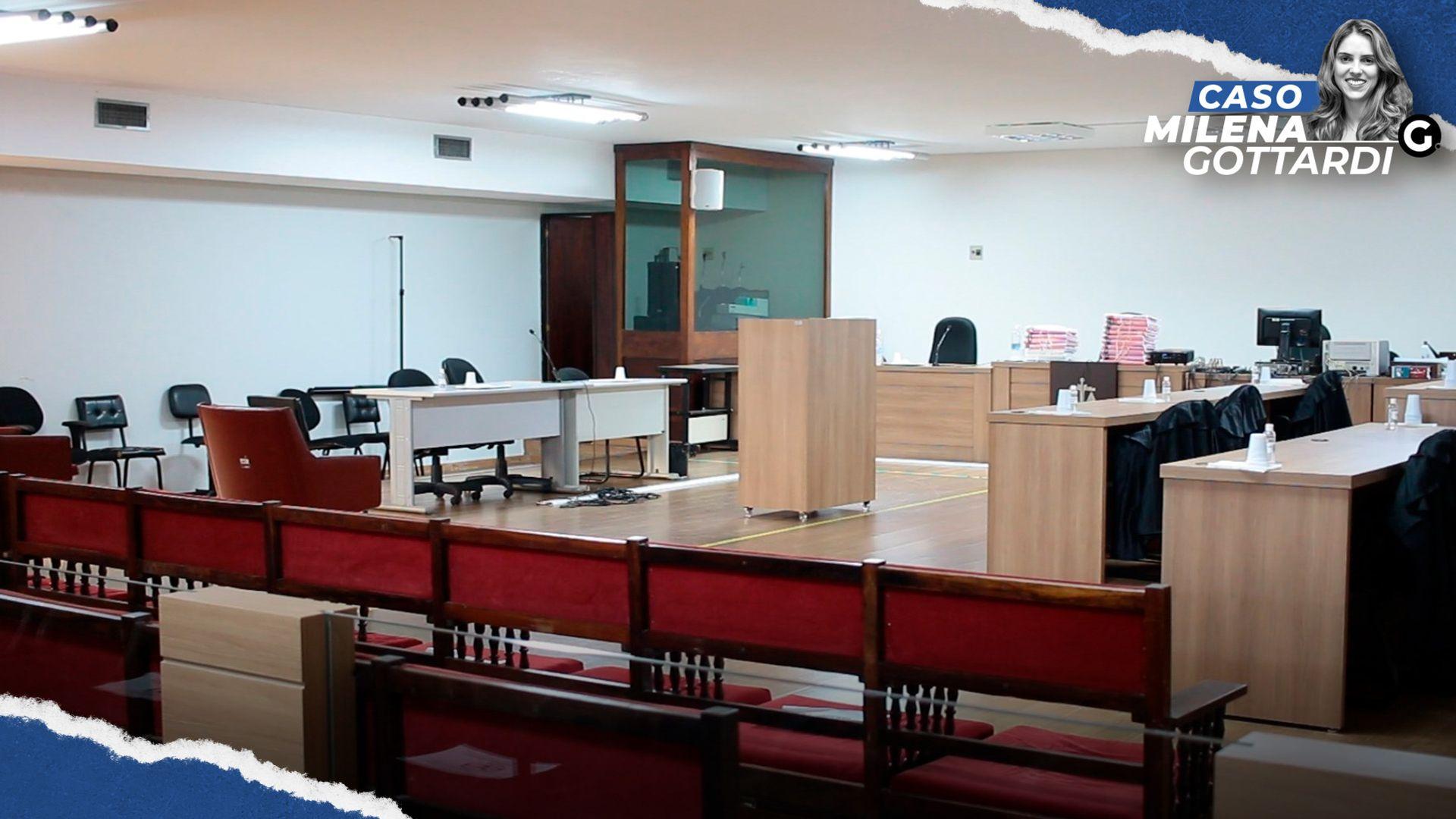 Salão do Tribunal do Júri Popular, onde será realizado o julgamento dos réus do caso Milena