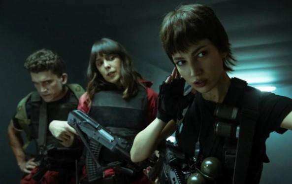 Jaime Lorente, Tamara Arranz e Úrsula Corberó em 'La Casa de Papel'