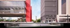 Perspectiva da expansão do Masp. Projeto utiliza o antigo edifício Dumont-Adams, vizinho ao museu, na Av. Paulista
