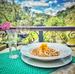 Risoto servido no restaurante da pousada Villa Theodora, aberto ao público, em Aparecidinha, Santa Teresa