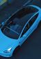O teto solar é um dos destaques no visual do Tesla Model 3. Crédito: Ueliton Santos/ Divulgação