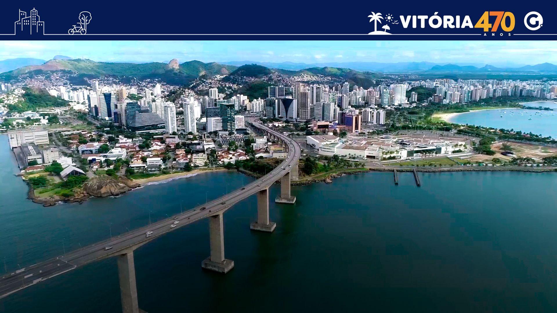 A Terceira Ponte liga Vila Velha a capital Vitória