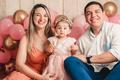 Daiana Dias e Leonardo Ribeiro celebram o 1º aninho da pequena Helena