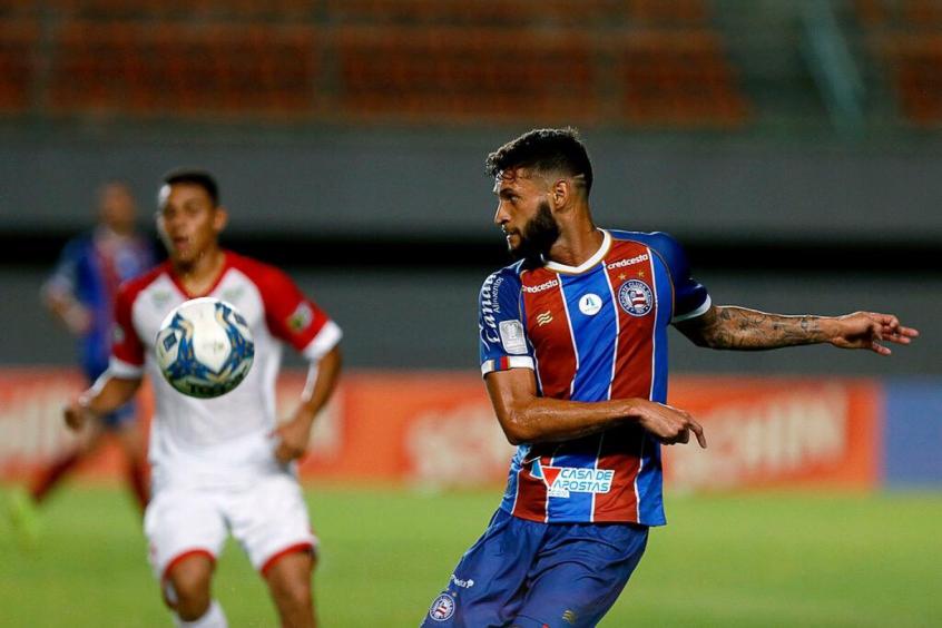 Crédito: Atleta retornou ao Bahia em 2020 após passagens por Corinthians e Grêmio (Felipe Oliveira/Bahia