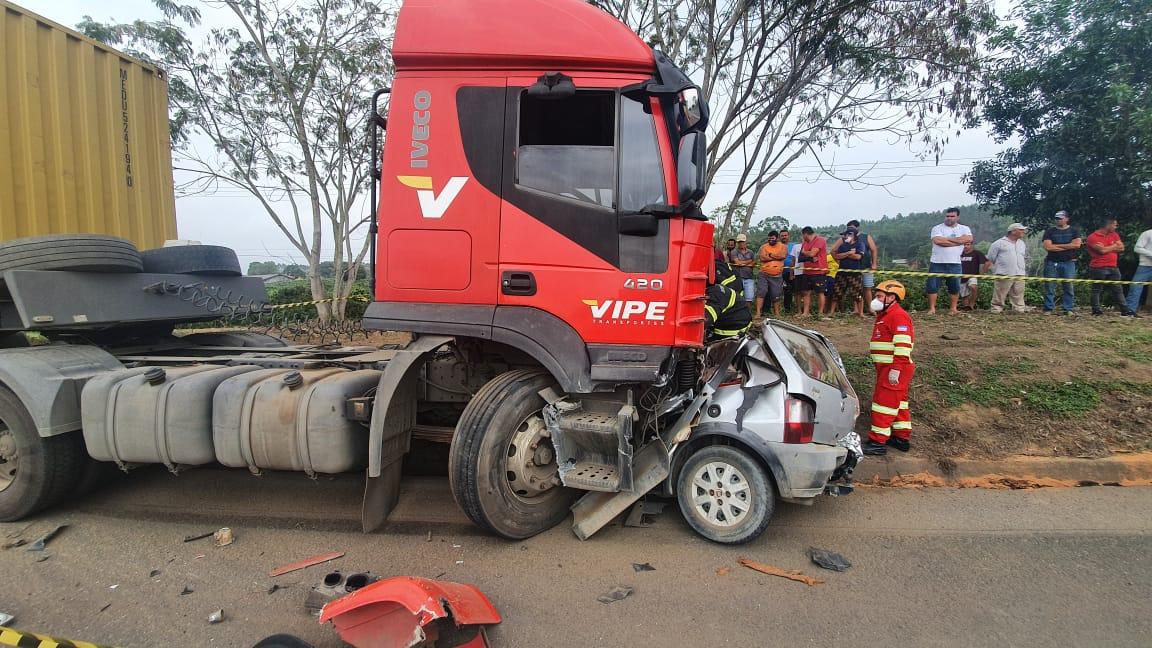 Pai e filha são as vítimas de acidente com mortes em Aracruz. Crédito: Vinícius Teixeira