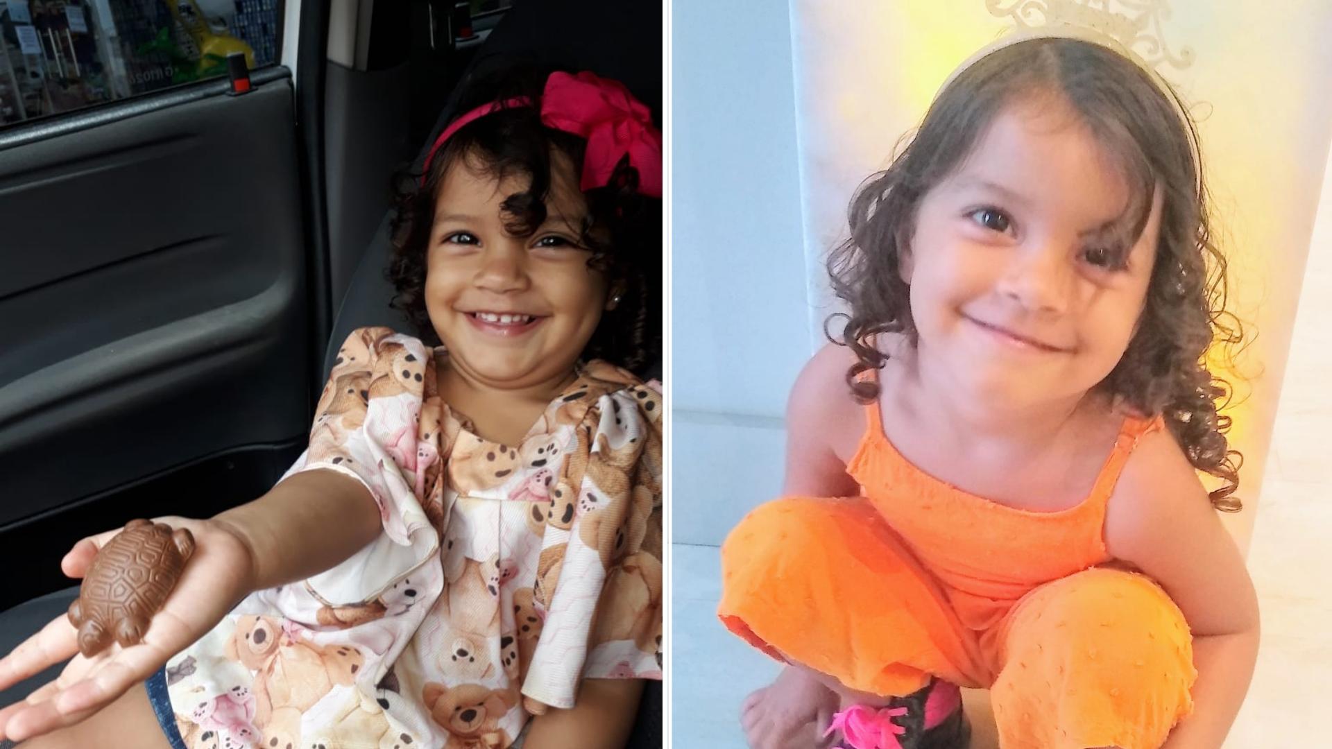 Elena Vieira Fantin, de 2 anos, morreu atropelada por ônibus em Linhares, Norte do Espírito Santo. Crédito: Arquivo pessoal