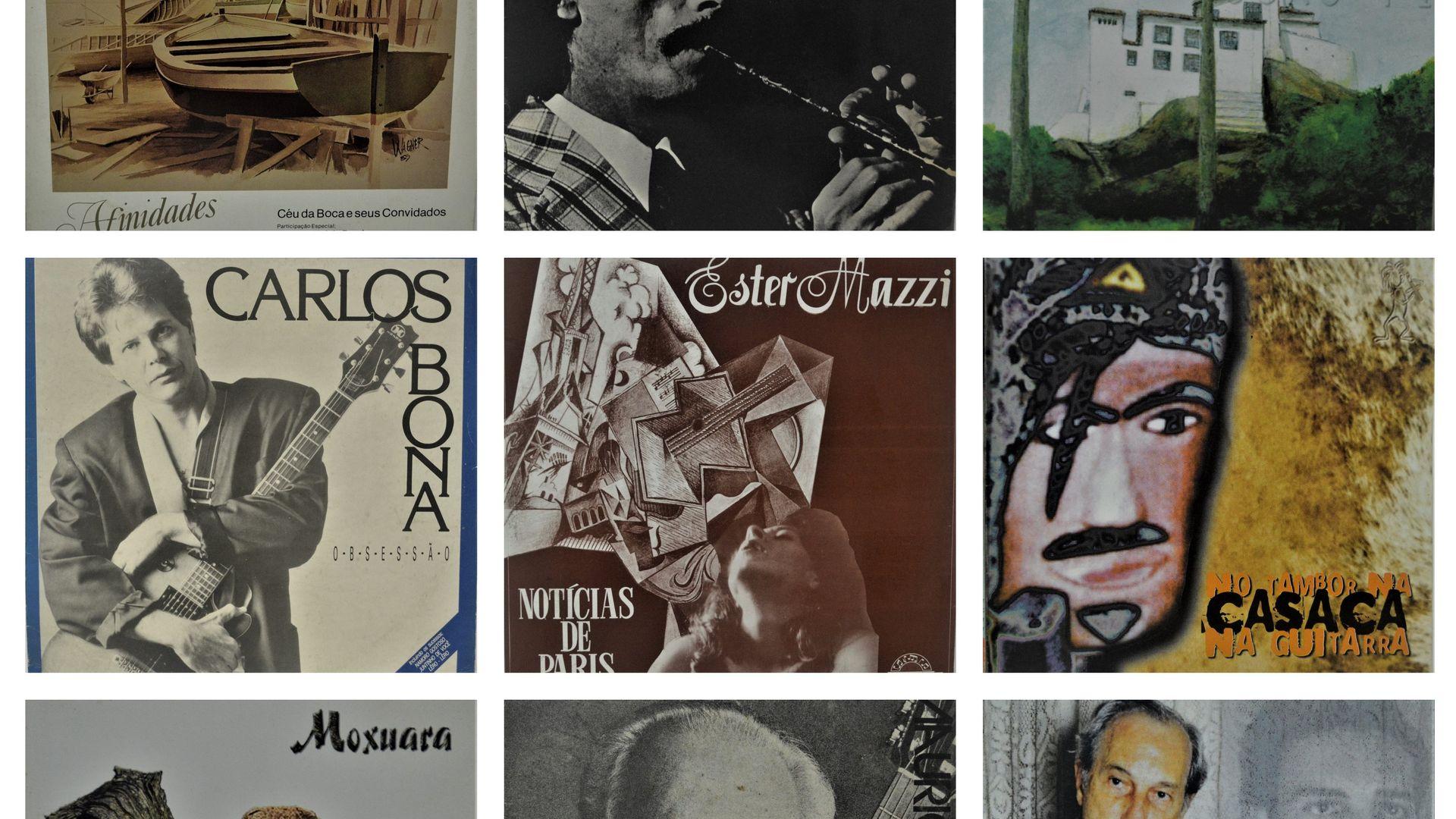 """Alguns dos discos capixabas que são retratados pelo jornalista José Roberto Santos Neves em seu novo livro,""""Os Sons da Memória - Uma Leitura Crítica de 40 Discos que marcaram época na Música do Espírito Santo"""""""