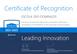 Certificado formaliza a Escola São Domingos como Showcase School da Microsoft.