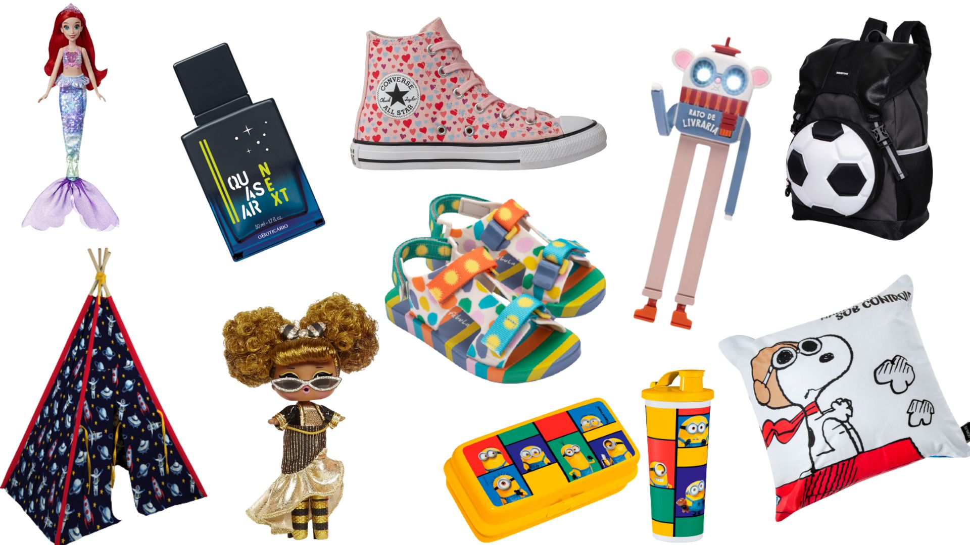 Uma seleção de presentes para você fazer bonito com a crinaçada no dia 12 de outubro