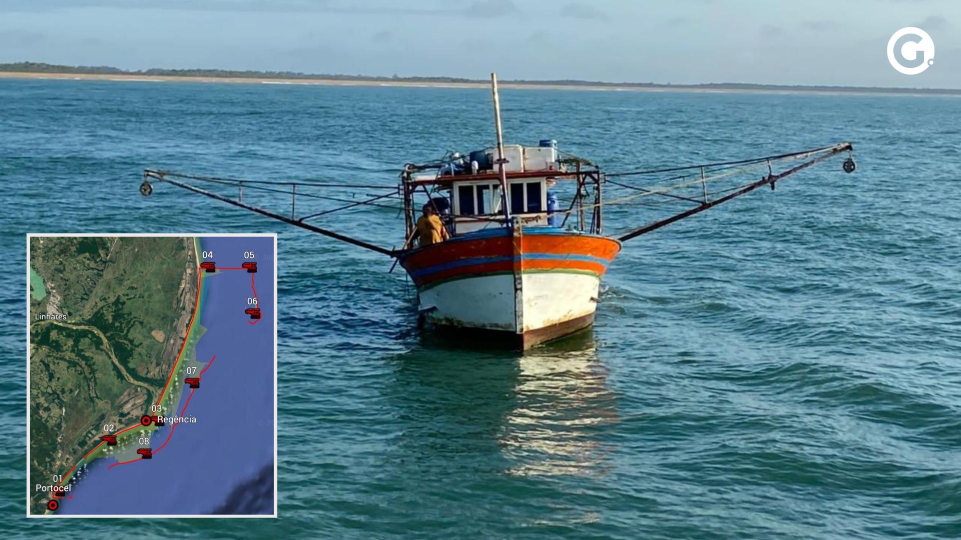 PF e Interpol fazem operação contra a pesca ilegal no Norte do ES. Crédito: Polícia Federal / Arte A Gazeta