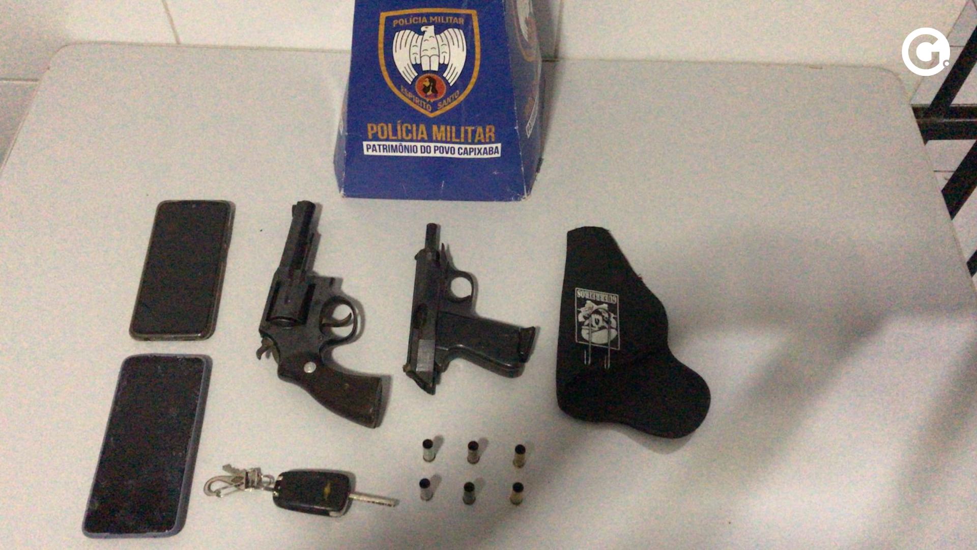 Material apreendido com suspeitos em Sooretama. Crédito: Polícia Militar