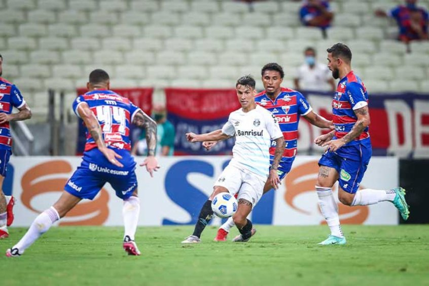 Crédito: Imortal perdeu para o Fortaleza por 1 a 0 na Arena Castelão (Lucas Uebel/Grêmio